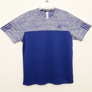 Adidas Blue Activewear Short Sleeve Shirt NWOT